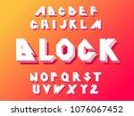 soft color gradients alphabet...