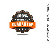 guarantee badge seal stamp... | Shutterstock .eps vector #1076070002
