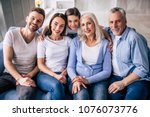 the happy multi generation... | Shutterstock . vector #1076073776