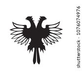 double headed eagle silhouette... | Shutterstock .eps vector #1076074976