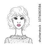 young african fashion women.... | Shutterstock .eps vector #1076083586