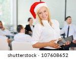 Santa Girl Businesswoman At...