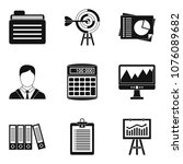 dedicated computer icons set.... | Shutterstock .eps vector #1076089682