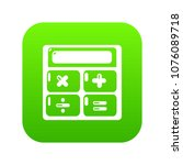 calculator icon green vector...