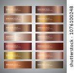 set of bronze gradient vector... | Shutterstock .eps vector #1076100248