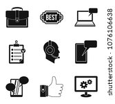 work computer icons set. simple ...