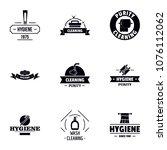 hygiene logo set. simple set of ... | Shutterstock .eps vector #1076112062