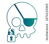 pirate skull virus attack with...   Shutterstock .eps vector #1076124365