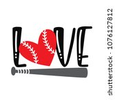 love. typography design with... | Shutterstock .eps vector #1076127812