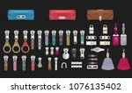 handbag accessories closures... | Shutterstock .eps vector #1076135402