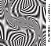 optical art. optical illusion... | Shutterstock .eps vector #1076156882