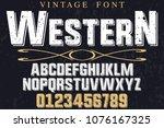 font alphabet script typeface... | Shutterstock .eps vector #1076167325