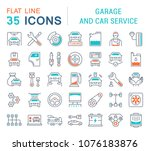 set of vector line icons  sign... | Shutterstock .eps vector #1076183876