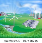 different power generation ... | Shutterstock . vector #107618915