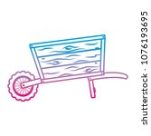 degraded line handcart vehicle... | Shutterstock .eps vector #1076193695