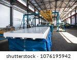 industrial manufactory workshop ... | Shutterstock . vector #1076195942