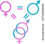 symbol of male and female... | Shutterstock .eps vector #1076204645