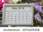 May 2018  Calendar Of The Mont...