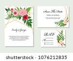 wedding invitation  save the... | Shutterstock .eps vector #1076212835