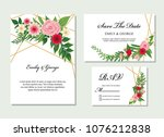 wedding invitation  rsvp  save... | Shutterstock .eps vector #1076212838