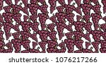 repeating seamless pattern of... | Shutterstock .eps vector #1076217266