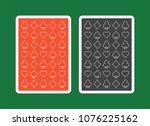 playing card back  red and... | Shutterstock .eps vector #1076225162