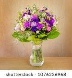 a beautiful bouquet of flowers  ...   Shutterstock . vector #1076226968