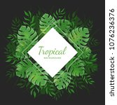 tropical background. square... | Shutterstock .eps vector #1076236376
