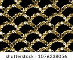 sequins seamless pattern.... | Shutterstock .eps vector #1076238056