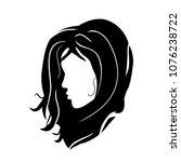 logo girl model brunette head... | Shutterstock .eps vector #1076238722