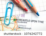 newcastle upon tyne city of... | Shutterstock . vector #1076242772