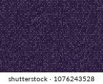 sheet of vintage violet binary...   Shutterstock .eps vector #1076243528