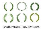 set of laurel wreaths. heraldic ... | Shutterstock .eps vector #1076248826