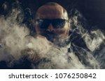 man vape e cigarette with e...   Shutterstock . vector #1076250842