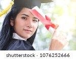 happy graduate young asian...   Shutterstock . vector #1076252666
