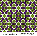 abstract vector seamless... | Shutterstock .eps vector #1076253086