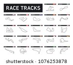 all race tracks  circuit for... | Shutterstock .eps vector #1076253878