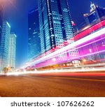 the light trails on the modern... | Shutterstock . vector #107626262