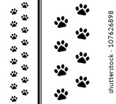 animal paw prints | Shutterstock .eps vector #107626898