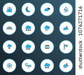 climate icons colored set with... | Shutterstock .eps vector #1076271716