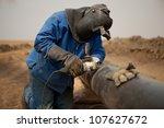 male welder worker wearing... | Shutterstock . vector #107627672