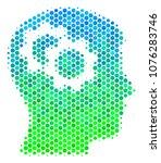 halftone dot intellect gears... | Shutterstock . vector #1076283746