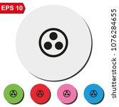 proton or neutron flat round...   Shutterstock .eps vector #1076284655