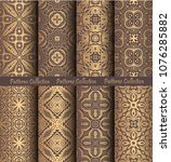 luxury seamless patterns... | Shutterstock .eps vector #1076285882