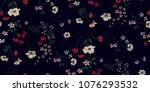 seamless floral pattern in... | Shutterstock .eps vector #1076293532