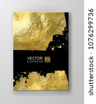 vector black and gold design... | Shutterstock .eps vector #1076299736