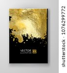 vector black and gold design... | Shutterstock .eps vector #1076299772