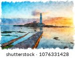 Watercolour Painting Of The...