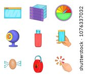 dialog icons set. cartoon set...