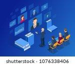 isometric training  online... | Shutterstock .eps vector #1076338406